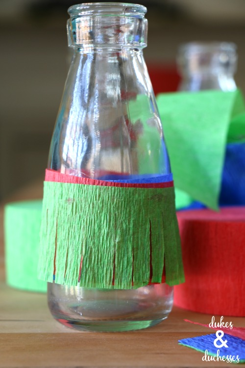 fiesta glasses made with crepe paper