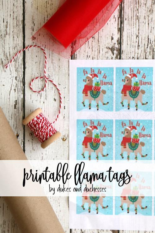 printable llama tags