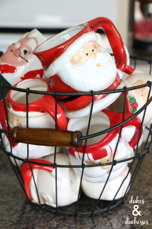santa mugs collection