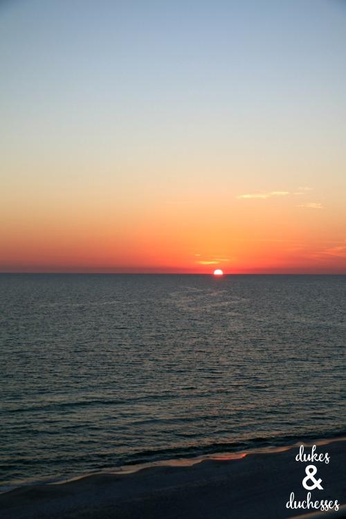 sunset in panama city beach florida