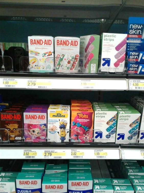holiday deco bandaids at target