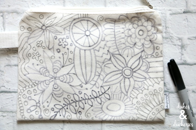 color your own pencil case