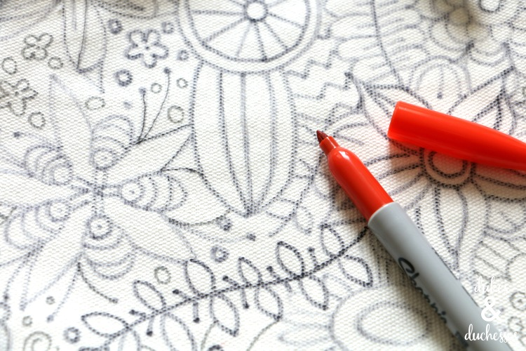 coloring page pencil case for kids