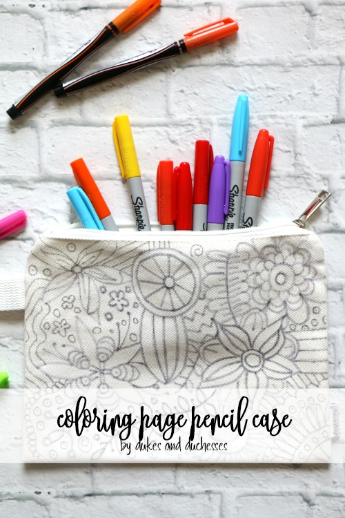 coloring page pencil case