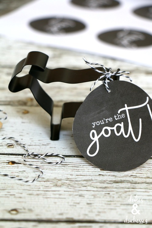 goat cookie cutter gift idea with printable