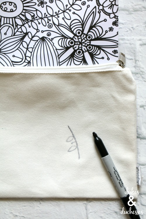 how to make a coloring page pencil case