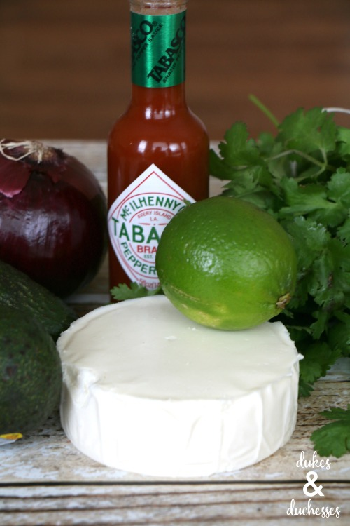 ingredients for easy guacamole recipe