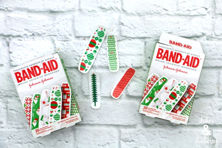 retro holiday bandaids