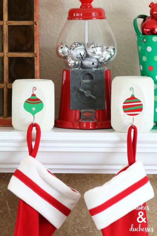 retro ornament stocking hangers