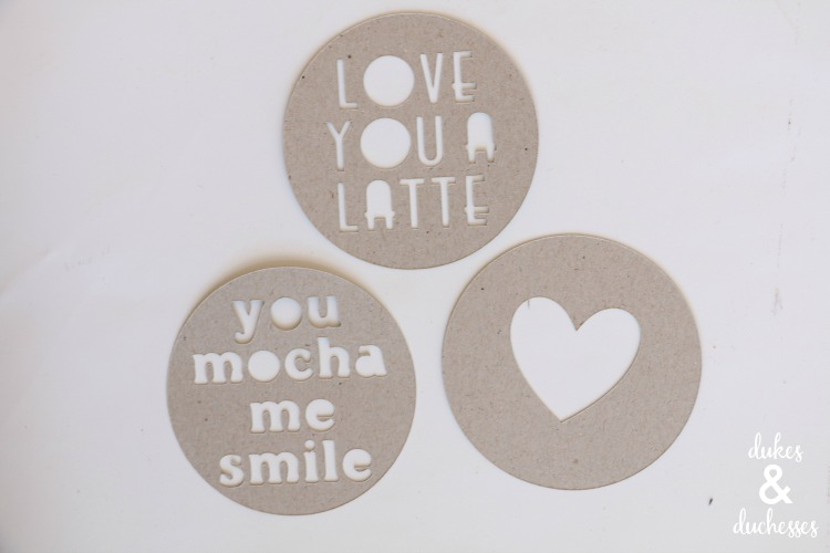 DIY coffee stencils made with cricut