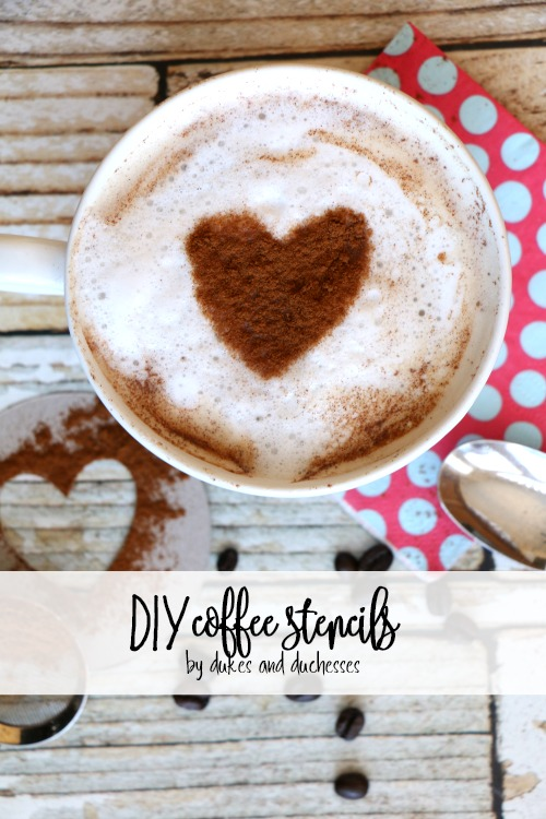 DIY coffee stencils