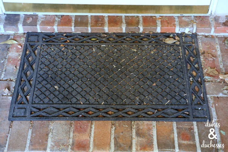 black door mat