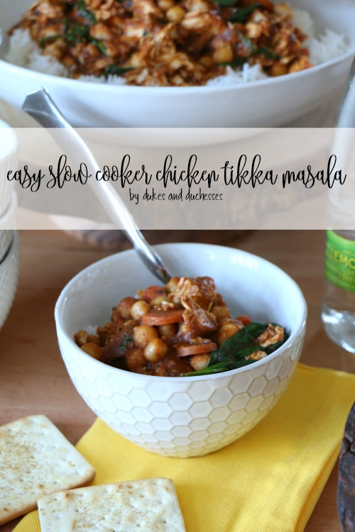 easy slow cooker chicken tikka masala