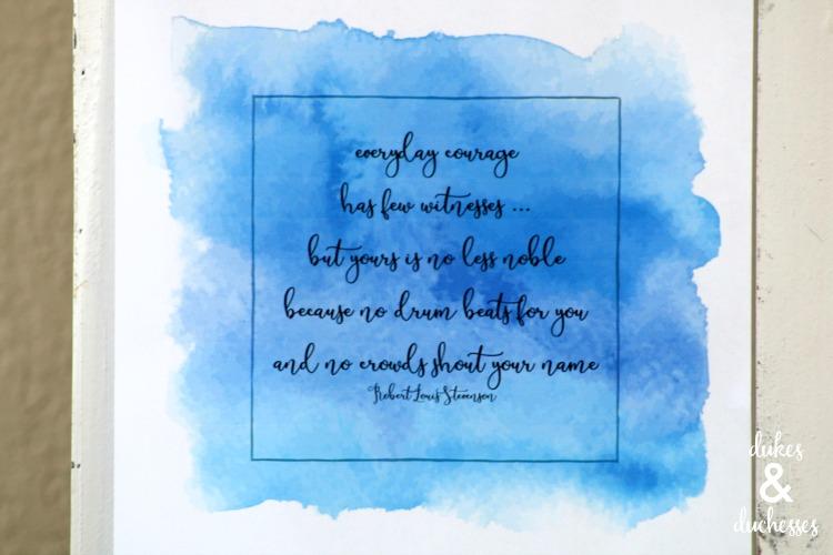 everyday courage printable