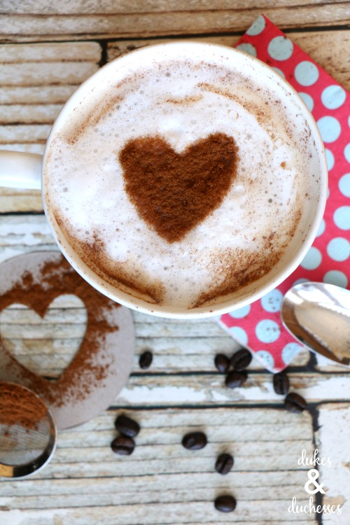 heart stenciled on coffee