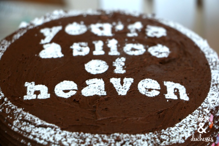 icing sugar cake stencil design