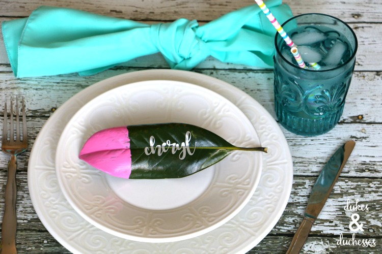 paint dipped place cards