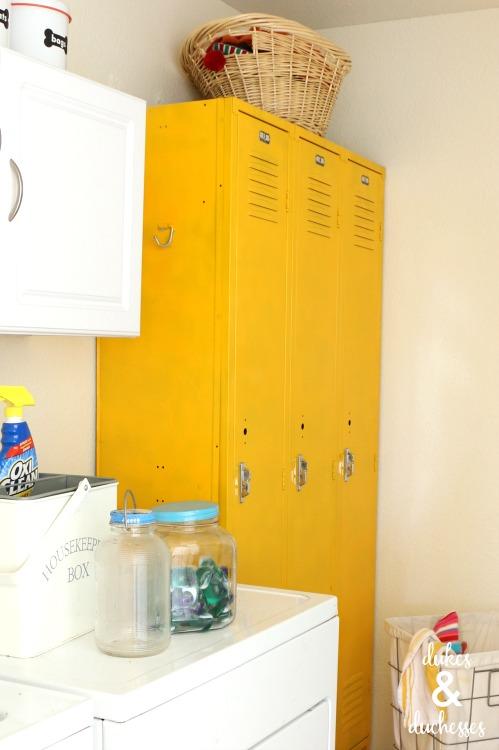 painted lockers in a multipurpose room