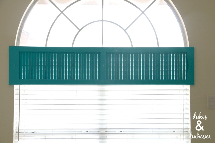 painted shutter valance