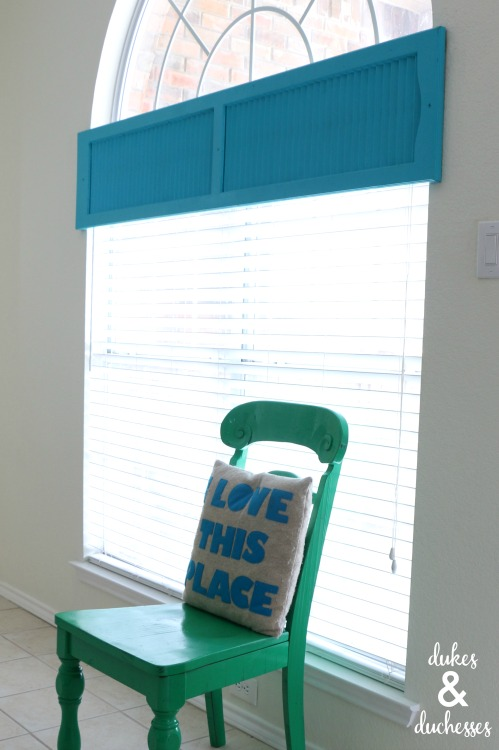 repurposed shutter valance window covering