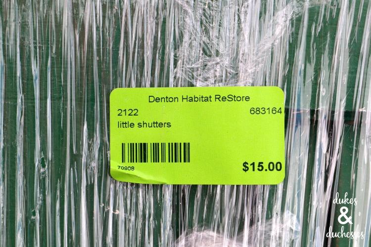 shutter from habitat restore