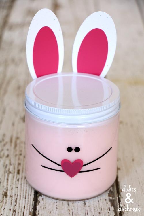 DIY easter bunny slime