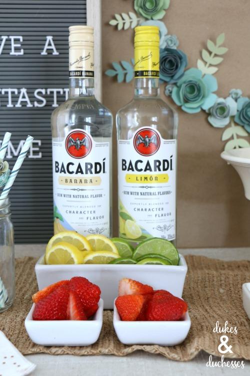 bacardi cocktail bar party idea