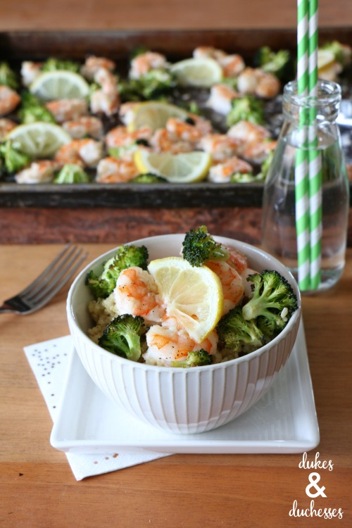baked broccoli shrimp scampi