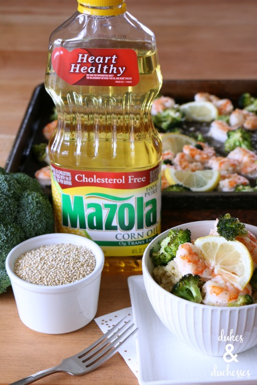 baked shrimp scampi made with mazola corn oil