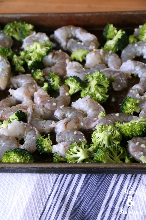 baked shrimp scampi with broccoli