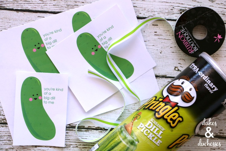 dill pickle valentine printable