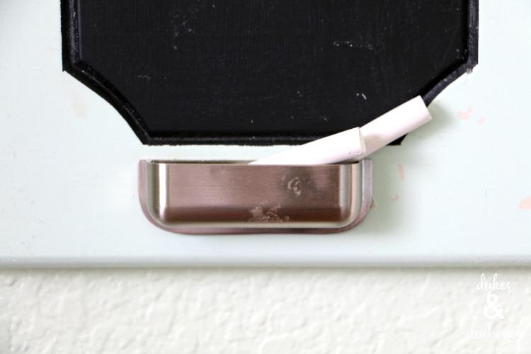 drawer pull chalk holder