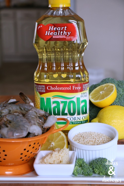 ingredients for sheet pan shrimp scampi recipe