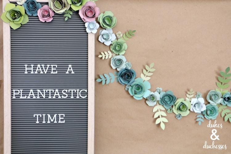 plantastic time succulent party backdrop