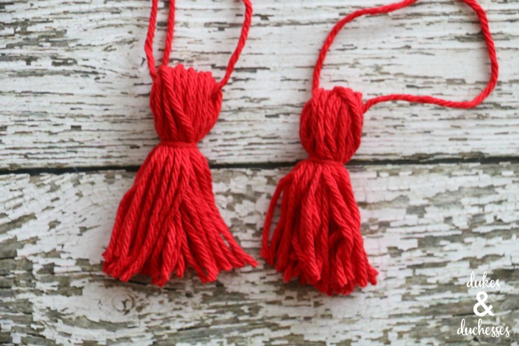 red yarn tassel for cuckoo clock