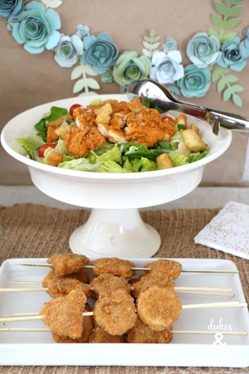 spicy chicken caesar salad from wendy's
