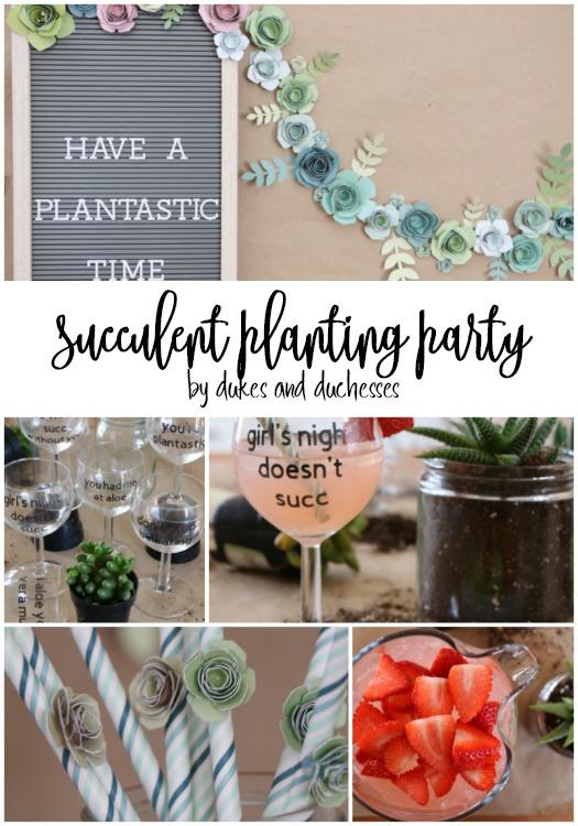 succulent planting party