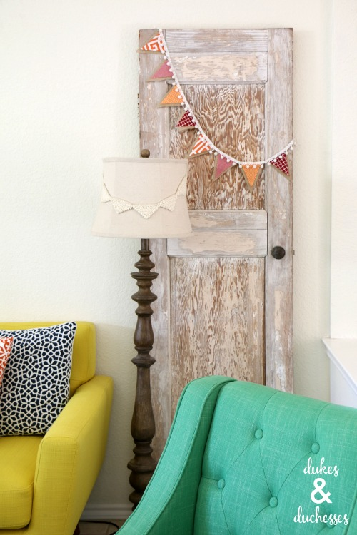 colorful fabric burlap banner