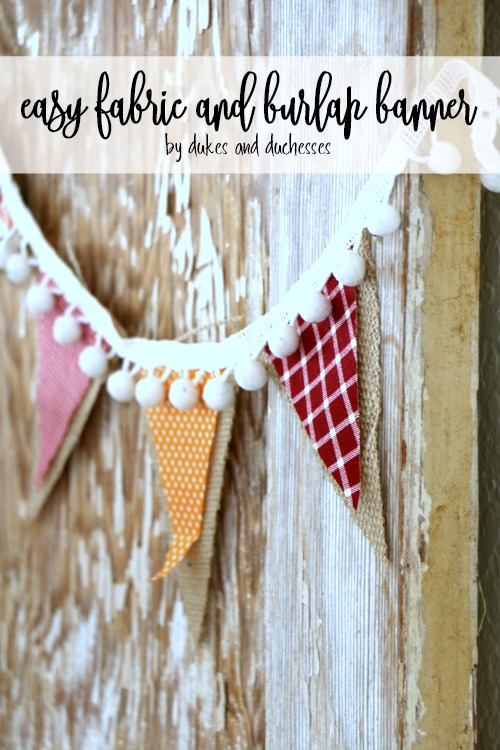 easy fabric and burlap banner