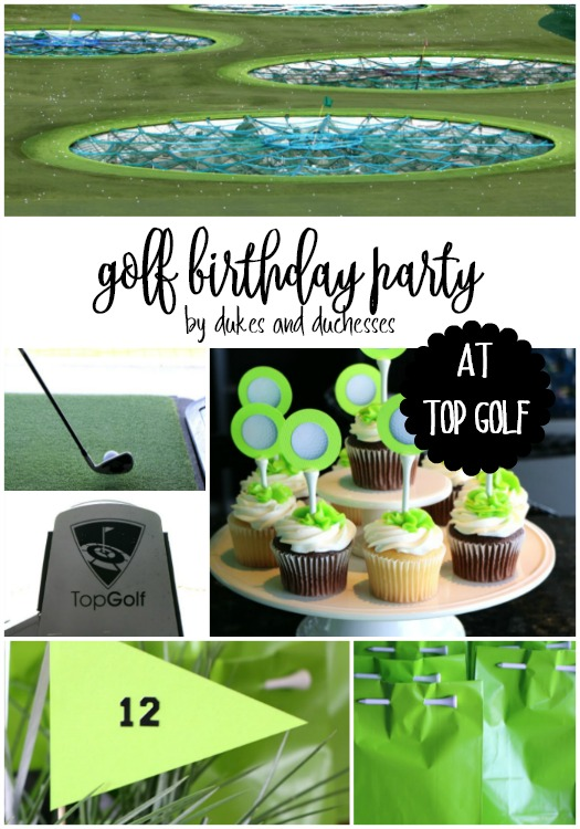 golf birthday party at top golf