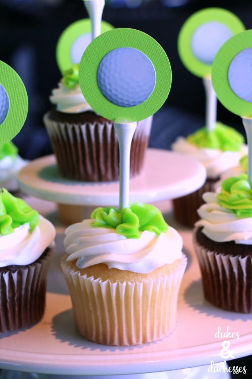 golf cupcakes for golf party