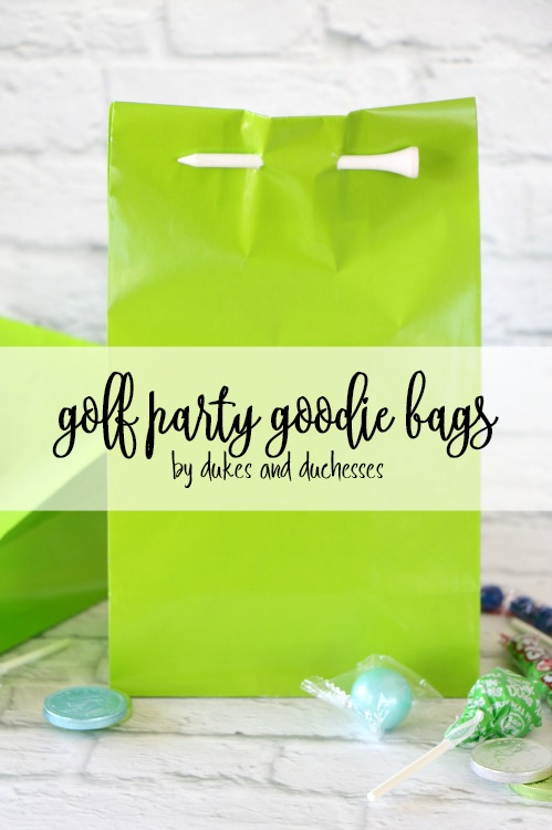 golf party goodie bags