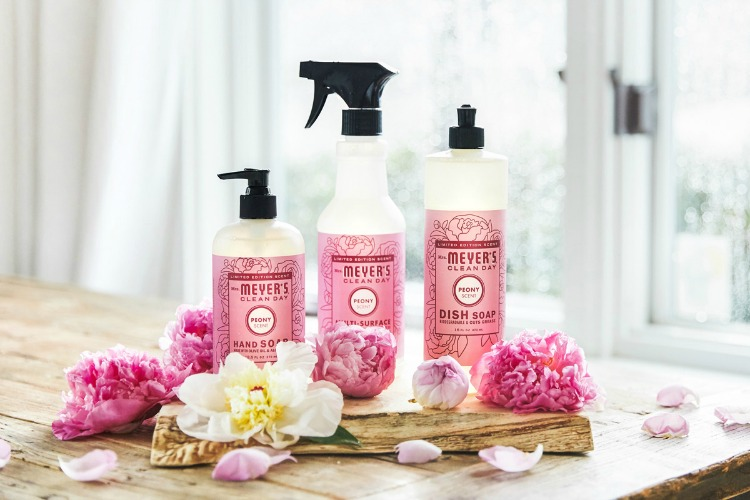 mrs meyers peony scents for spring