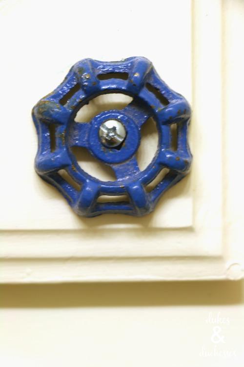 repurposed faucet handle knobs