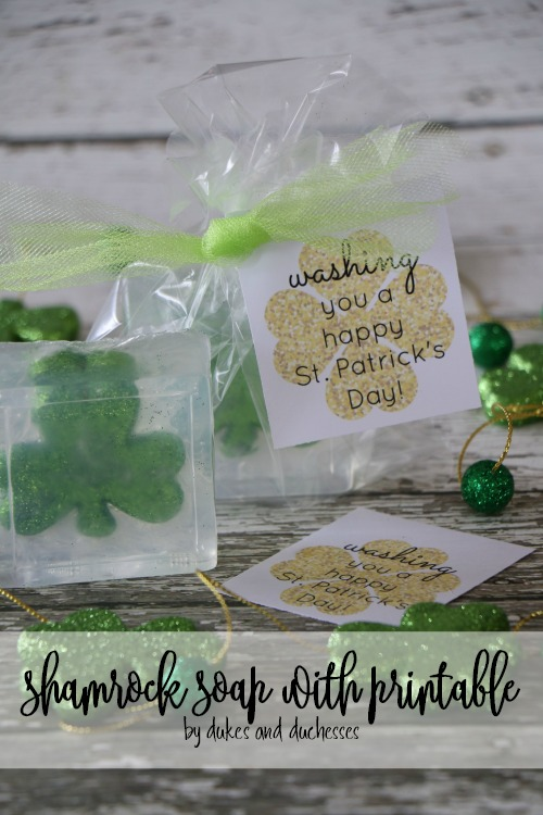 St. Patrick's Day Shamrock Soap with Printable {DIY Craft Idea by Randi Dukes}