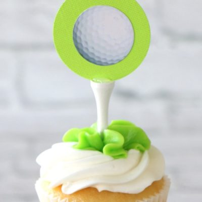 Golf Tee Cupcake Toppers for a Golf Party