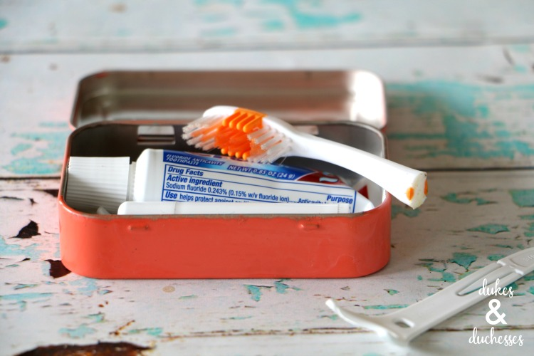 toothbrush kit for the purse