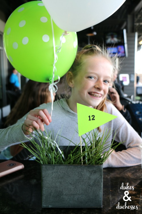 top golf tween birthday party