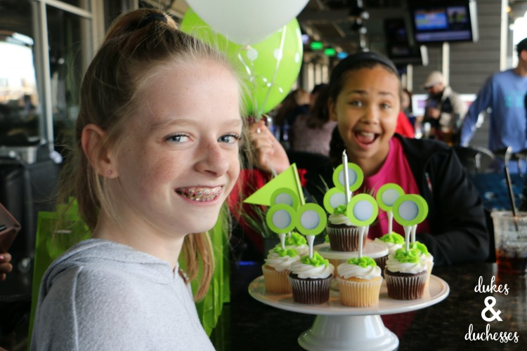 tween birthday party at top golf
