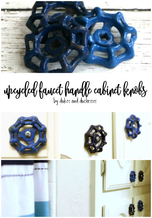 upcycled faucet handle cabinet knobs